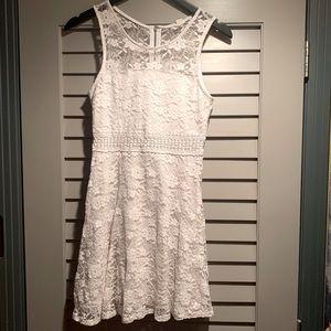 Garage White Peek-a-Boo Summer Dress